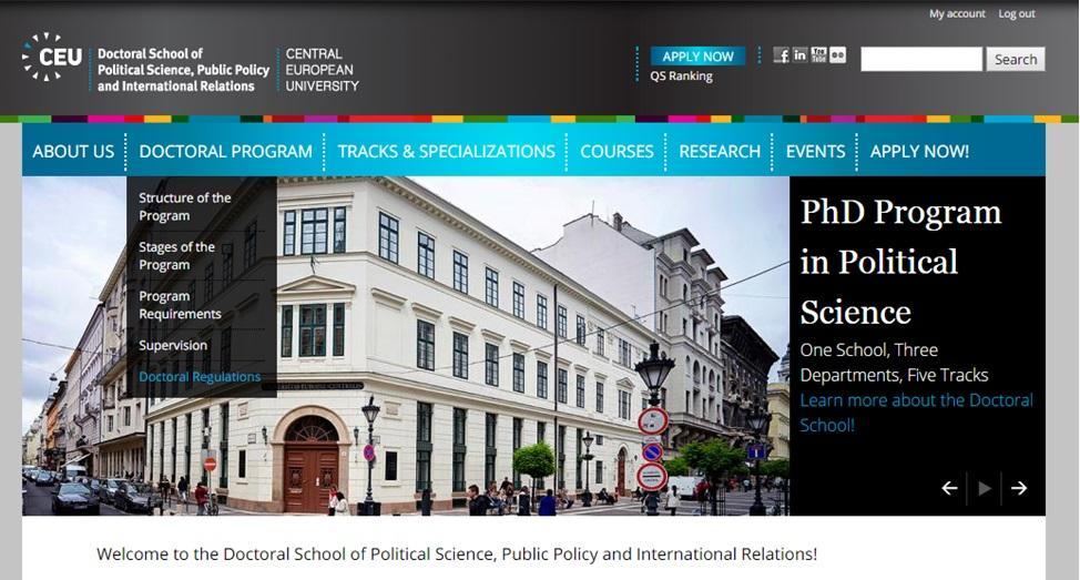 Doctoral School website
